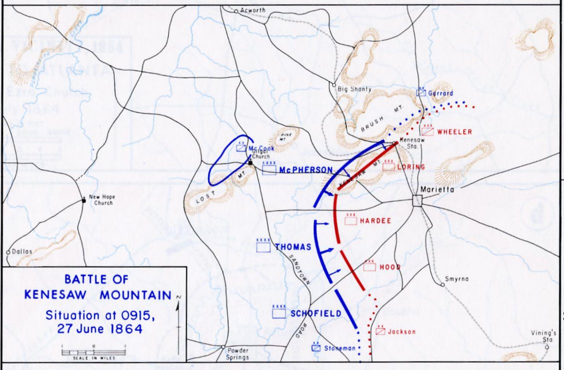 Kenesaw Mountain Battle Map
