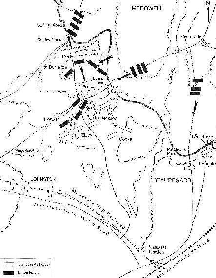 Manassas Battlefield Map