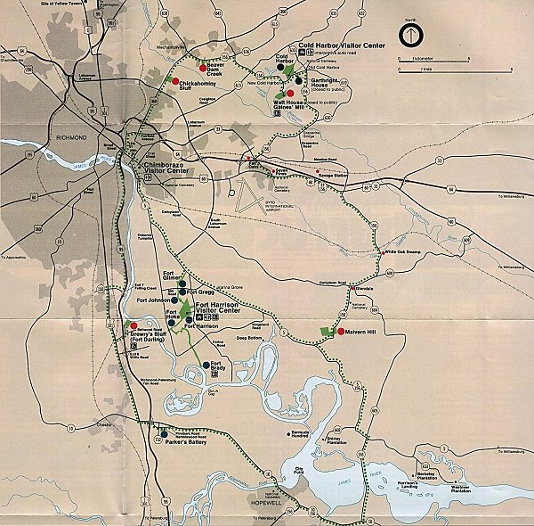 Richmond Virginia Civil War Battle Map