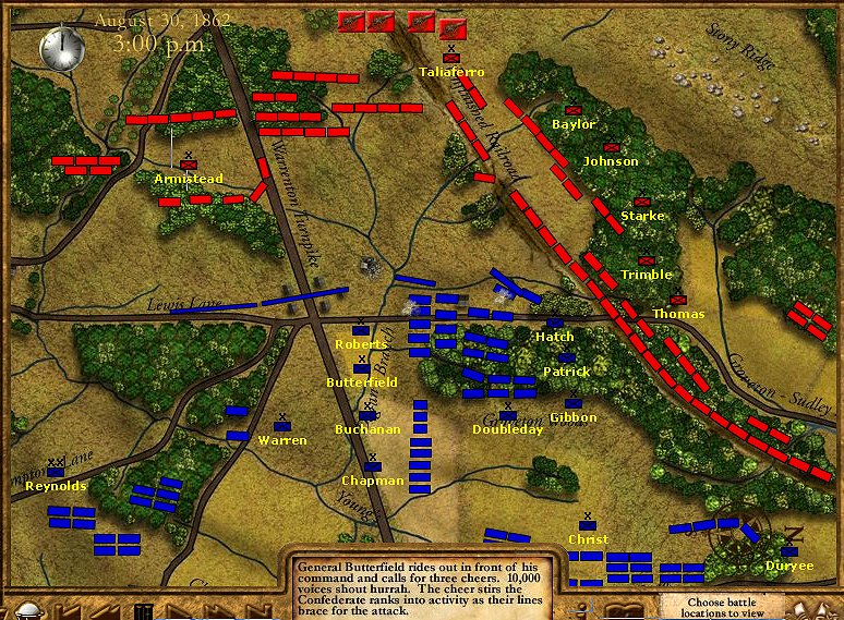 Manassas 2 Battle Map