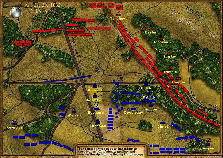 Second Bull Run Battle Map