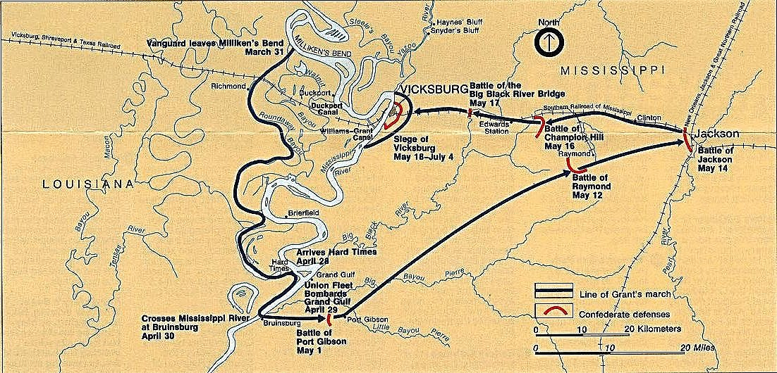 The Vicksburg Campaign May 1863 American Civil War Battle