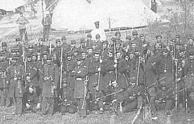 A Union regiment at ease