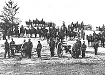 An artillery battery