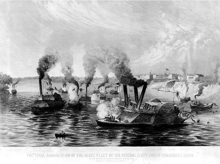 Mephis Civil War Naval Battle Ironclads