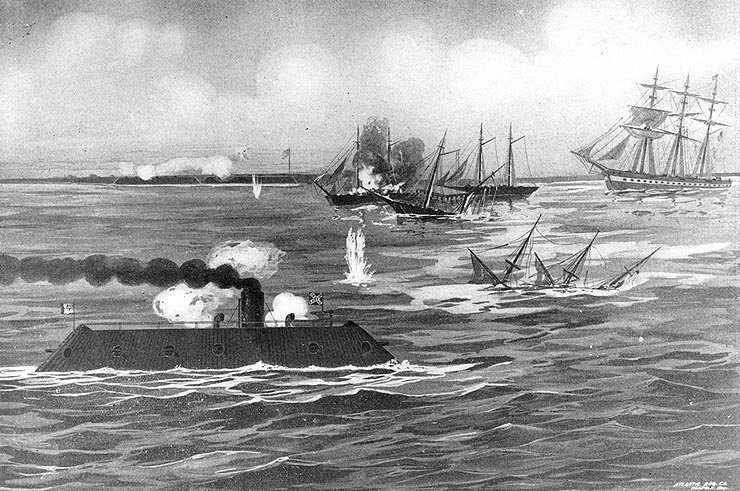 the account of events during the battle between uss monitor and the css merrimack in 1862 Master on the famous uss monitor when it fought the merrimack the uss monitor and the css (1862) an eye-witness account of the battle between the u.
