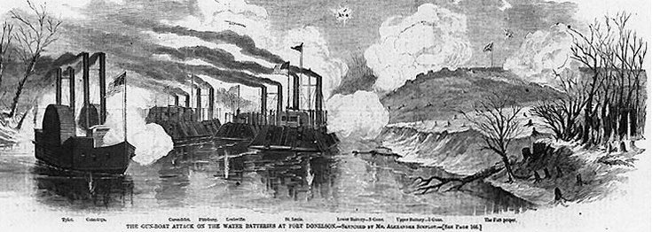 civil war naval attack on fort Donaldson