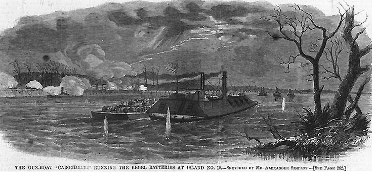 civil war Mississippi naval battle