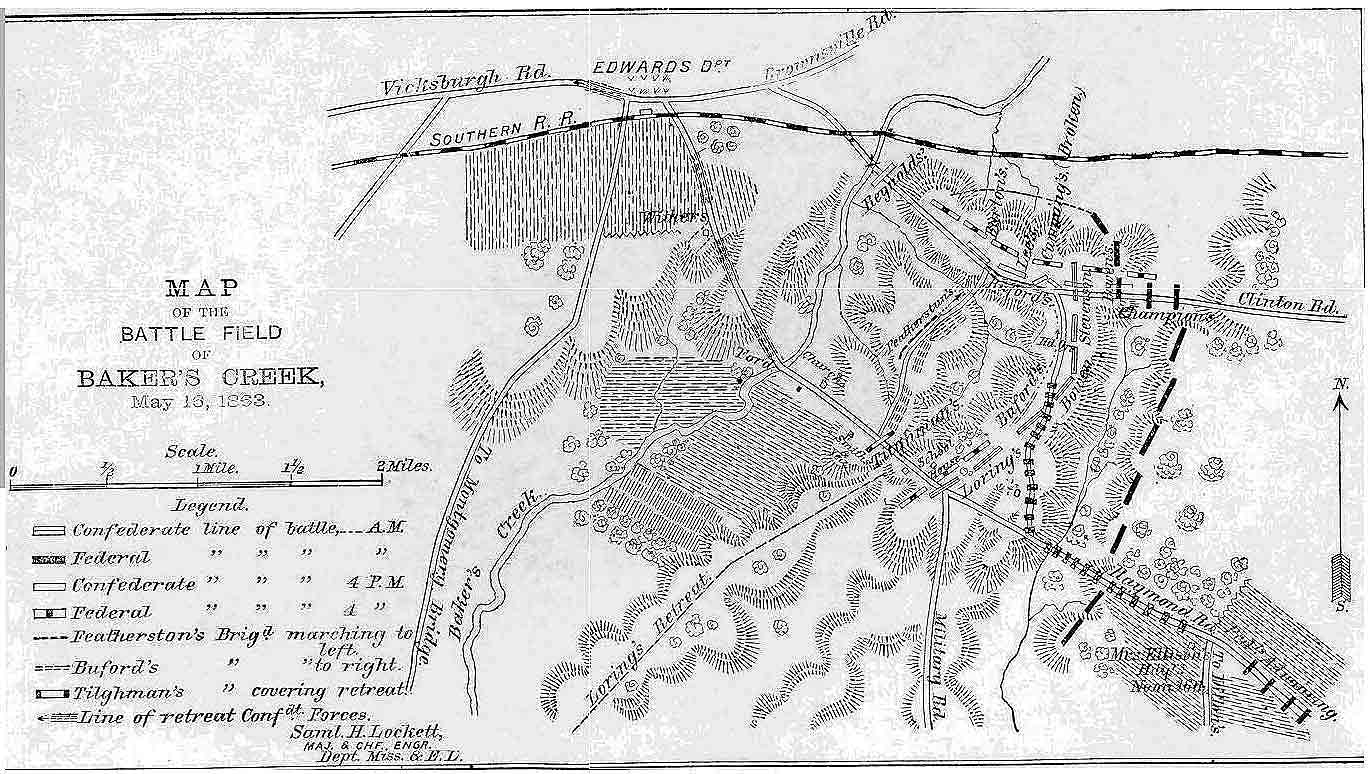 battlefield map Champions Hill Mississippi Civil War