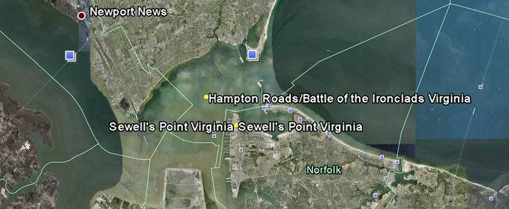 Sewells Ferry Civil War Battle Google Earth