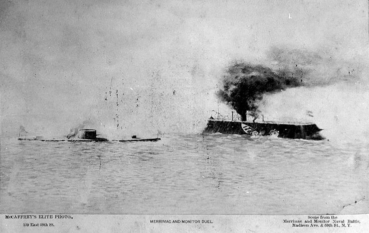 USS Monitor approaches the CSS Virginia