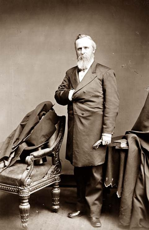 President Rutherford Hayes in 1865