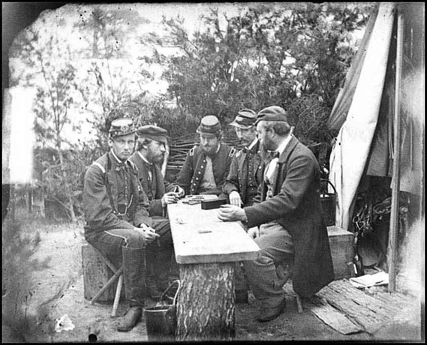 Union Soldiers Playing...