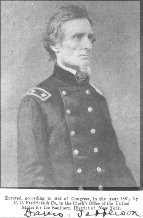 Confederate President Jefferson Davis in Uniform