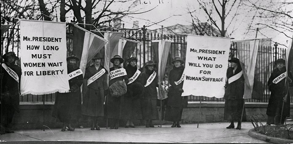 women suffrage timeline  picket the white house